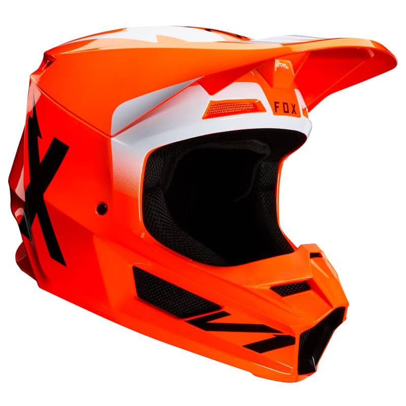 Casque moto cross Fox V1 - WERD - ORANGE FLUO 2020