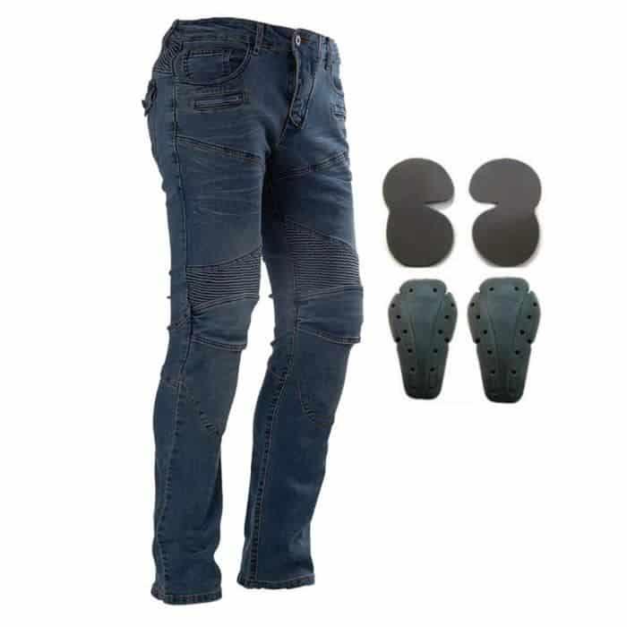 les protections d'un jean moto