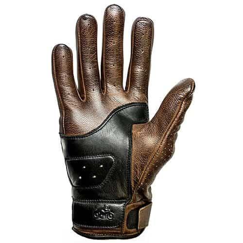 un gant moto en cuir