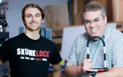 Nouveauté Skunklock : un antivol U avec gaz pressurisé à effet vomitif