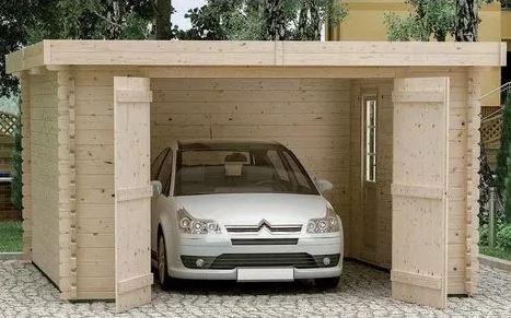 garage en bois moto