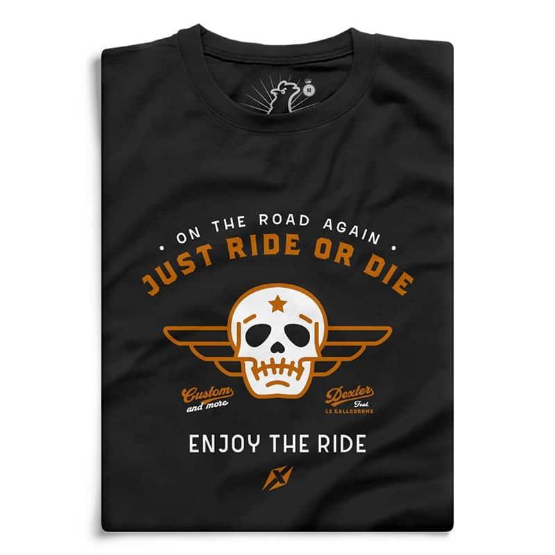 Tee shirt moto Le Gallodrome Just Ride Or Die – Sportswear