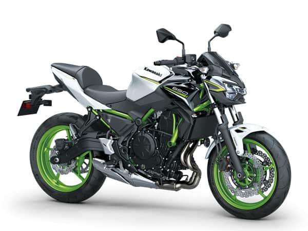 Kawasaki Z650 verte et noir