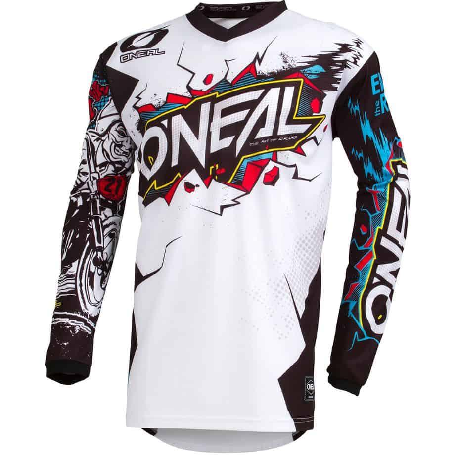 Maillot motocross O'Neal Element – Villain – White
