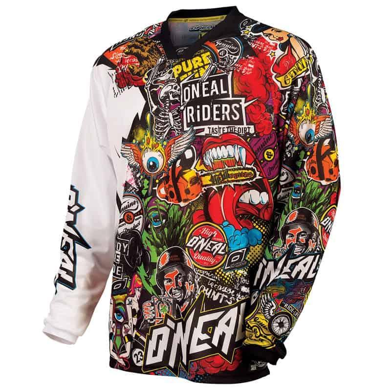 Maillot motocross O'Neal Mayhem – Crank – Black Multi